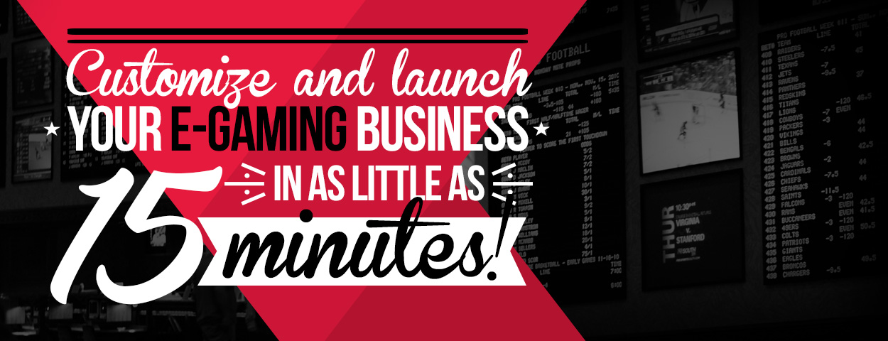 Customize and launch your e-gaming business in as little as 15 minutes!
